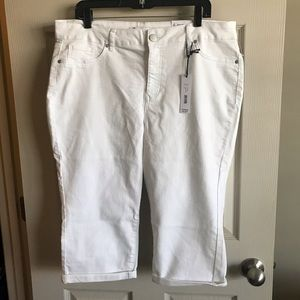 d. jeans cropped white jeans 16W